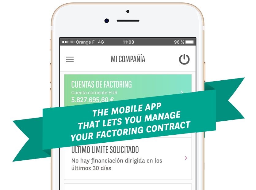 The mobile app that lets you manage your factoring contract